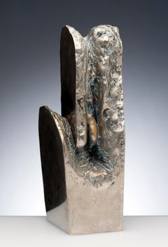 Latin American Raúl Valdivieso Organic Abstract Bronze Metal Sculpture