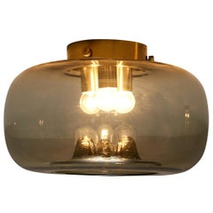 RAAK Amsterdam Ceiling Light in Smoked Glass and Brass