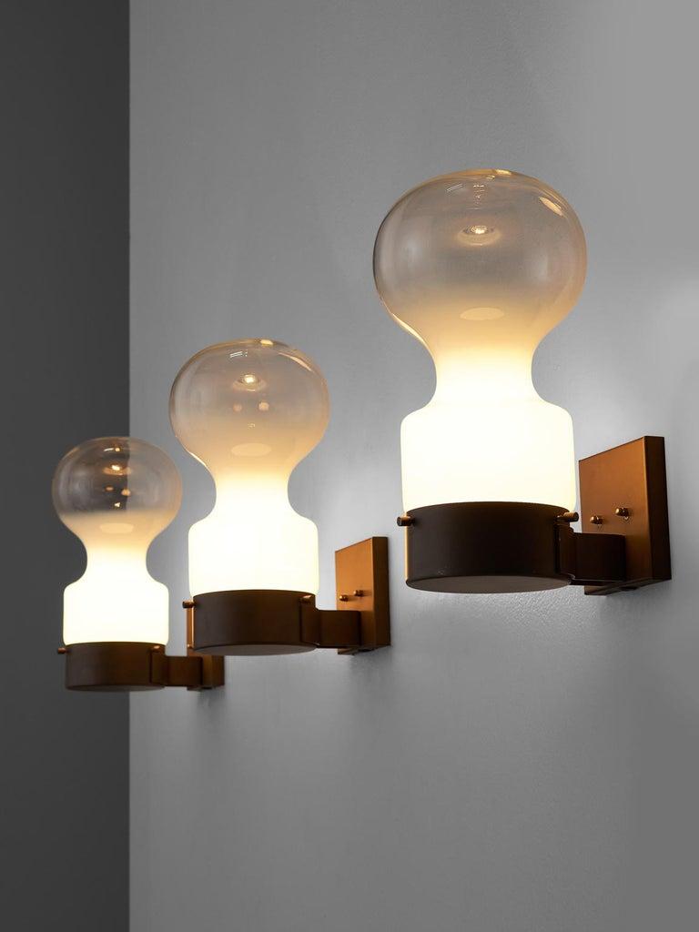 Mid-Century Modern RAAK Amsterdam Dew Drop Wall Lights For Sale