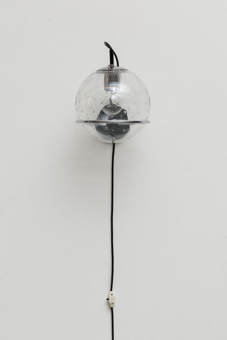 Mid-Century Modern RAAK Bubble Globe Wall Sconce For Sale