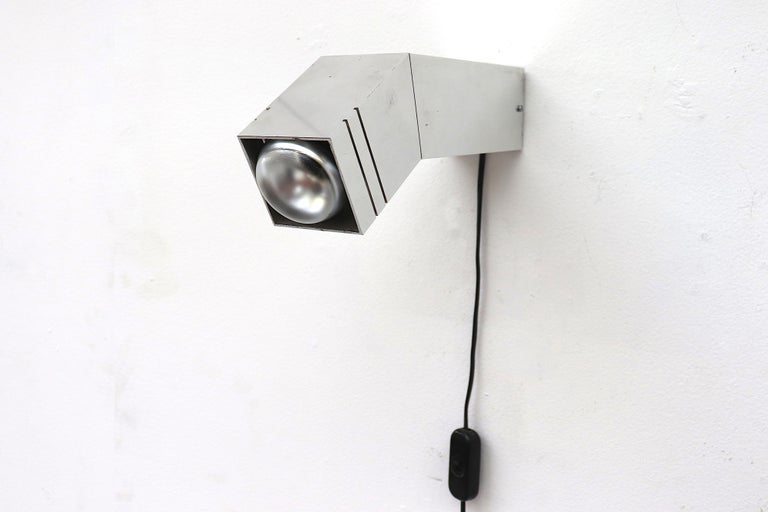 RAAK Geometric Industrial Wall Sconce In Good Condition For Sale In Los Angeles, CA