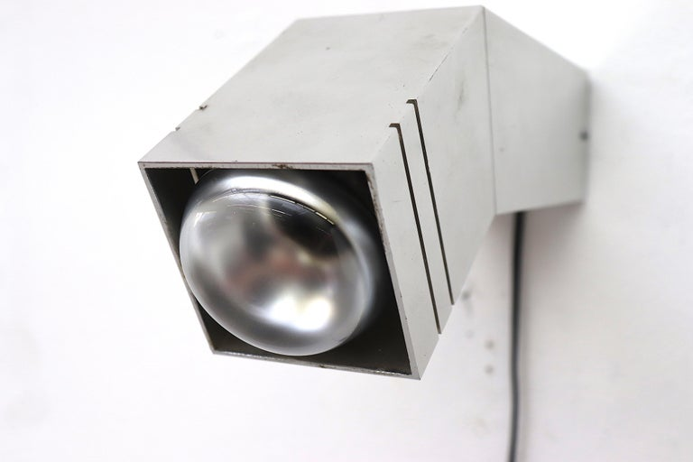 Late 20th Century RAAK Geometric Industrial Wall Sconce For Sale