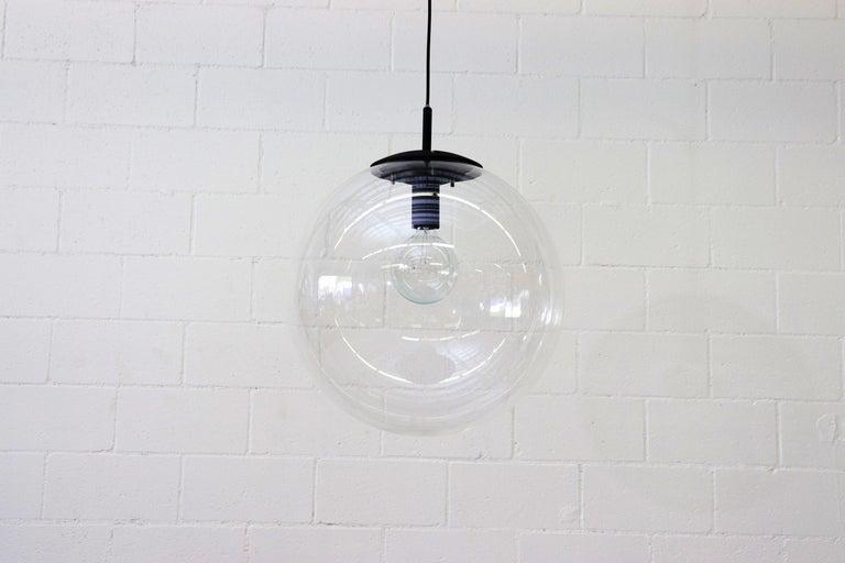 Mid-Century Modern RAAK Style Midcentury Clear Acrylic Pendant Globe For Sale