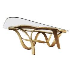 Raani I, Dining Table 8' by 4' by Raka Studio, Bent Wood Design