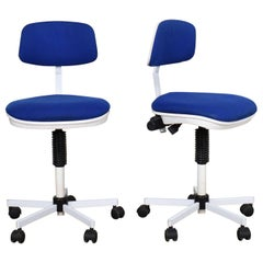 Rabami Made in Denmark Task Chair Blue & White Attributed to Kevi by Jorgen Rasm