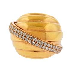 Rabat Barcelona Gold Diamond Dome Ring