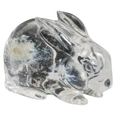 Rabbit, Crystal by Robert Kuo, Hand Carved, Limited Edition
