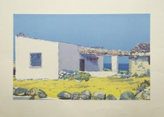 """""""Ustica"""" by Rabolini Lithograph Print. Printed in Italy."""