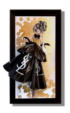 YSL Yves Saint Laurent HOMMAGE - 3D Sculpture and painting on wood