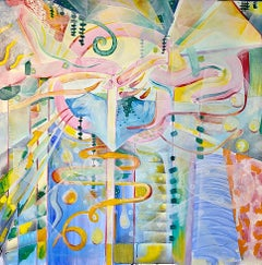 Internal, External- Contemporary Geometric Abstract Painting