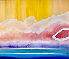 Sunset Road- Contemporary Geometric Abstract Painting