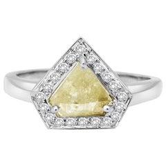 Rachel Boston 18 karat White Gold Yellow Diamond Diamond Engagement Ring