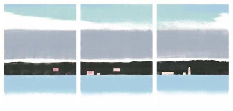 Rachel Burgess Landscape Print - Pink Dawn