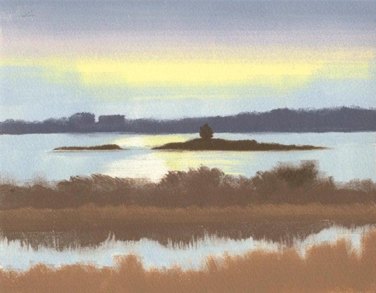 Rachel Burgess Landscape Print - Yellow, Purple, Blue, Brown