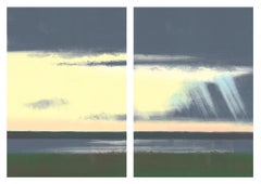 Yellow Sky, landscape diptych
