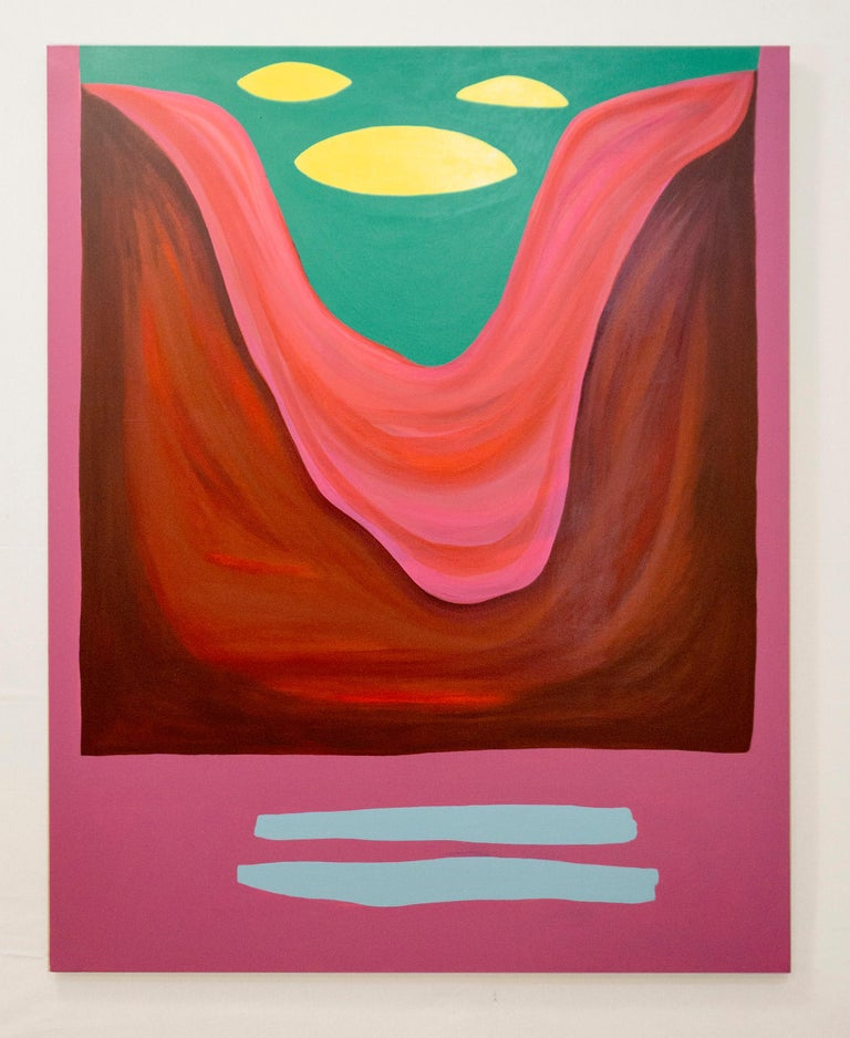 Rachel Chaldu Abstract Painting - This Land Was Made