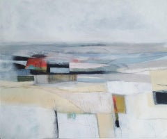 Rachel Cronin, Just Before Dusk, Contemporary Landscape Painting, Abstract Art