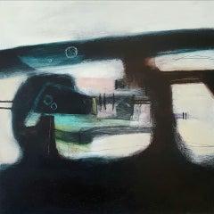 Rachel Cronin, Rising Moon, Original Abstract Expressionist Painting, Bright Art