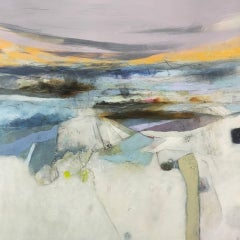 Rachel Cronin, The Violet Hour, Original Abstract Landscape Painting, Art Online