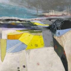 Rachel Cronin, Yellow Field II, Original Abstract Landscape Painting