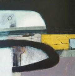 Rachel Cronin, Yellow Field, Original Abstract Painting, Affordable Art
