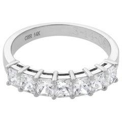 Rachel Koen 14 Karat White Gold 1.25 Carat Diamond Ladies Wedding Ring