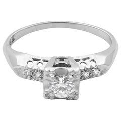 Rachel Koen 14 Karat White Gold Diamond Engagement Ring 0.25 Carat