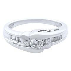 Rachel Koen 14 Karat White Gold Diamond Engagement Ring 0.60 Carat