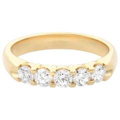 Rachel Koen 14 Karat Yellow Gold Diamond Ladies Wedding Band 0.50 Carat