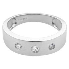 Rachel Koen 18 Karat White Gold Diamond Ladies Band 0.15 Carat