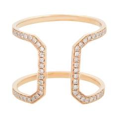 Rachel Koen 18K Rose Gold Diamond Ring 0.25cttw