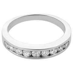 Rachel Koen Platinum Diamond Ladies Wedding Band Ring 0.50 Carat