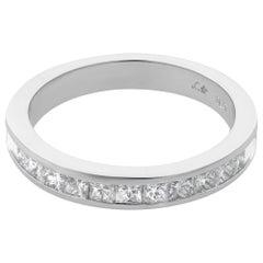 Rachel Koen Platinum Princess Cut Diamond Wedding Band Ring 0.50 Carat