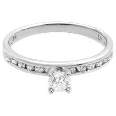 Rachel Koen Platinum Round Cut Diamond Engagement Ring 0.25 Carat