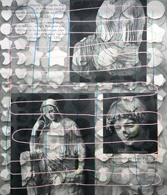 Rachel Livedalen, Searching for Meaning on the Internet, screen print on panel