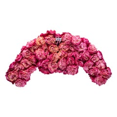 Rachel London pink rose bolero jacket, c. 1988