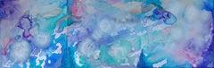 Scandinavian Skies, Painting, Acrylic on Metal