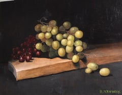 Grapes with Cutting Board