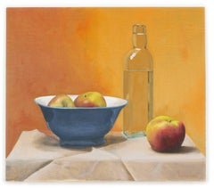Still Life with Bottle, Blue Bowl and Apples