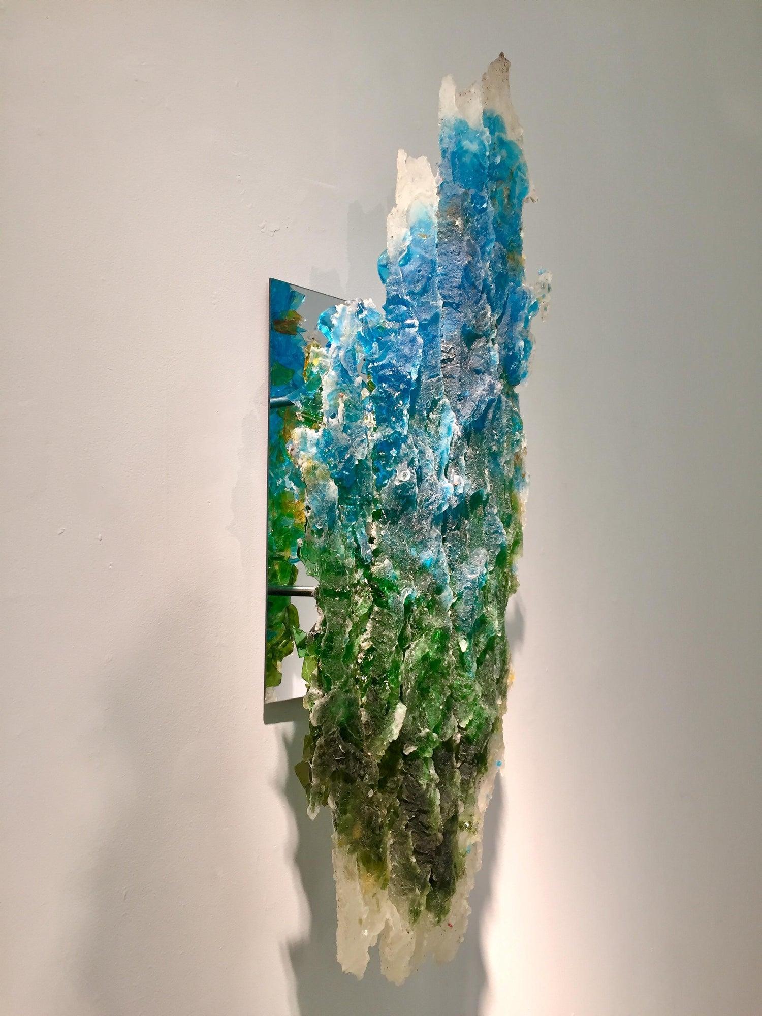 Rachel Owens, Queens Giant No  16, 2017, Broken glass cast in resin with  steel