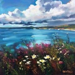 Rachel Painter, Be Free, Original Coast Painting, Cornwall Art, Affordable Art