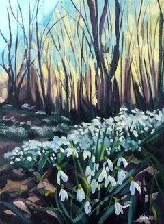 Rachel Painter, Snowdrop Valley II, Original Landscape Painting, Affordable Art