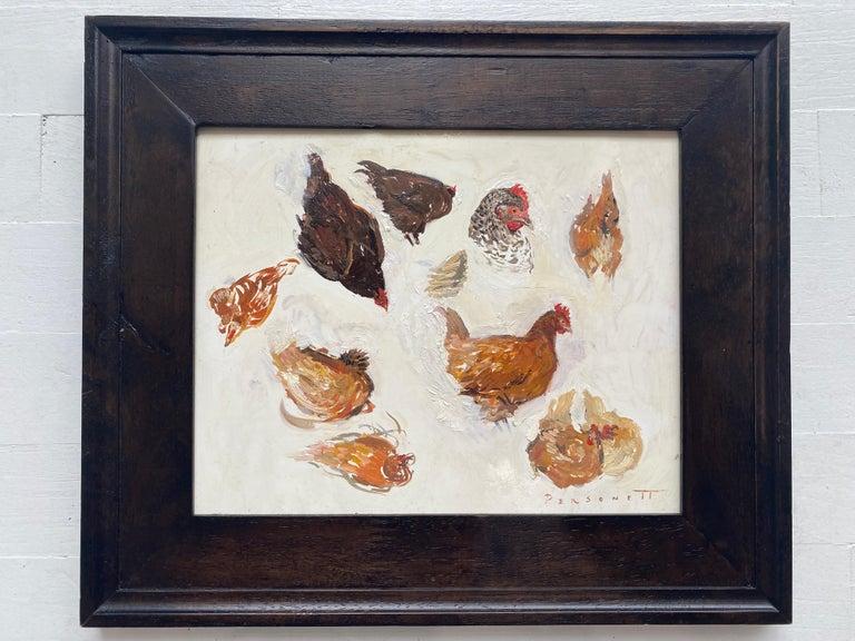 Hen Sketches - Painting by Rachel Personett