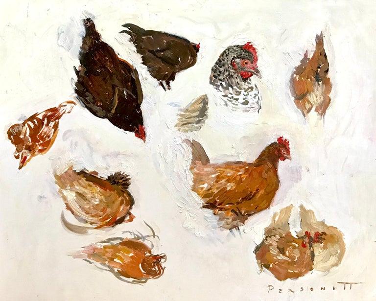Rachel Personett Figurative Painting - Hen Sketches