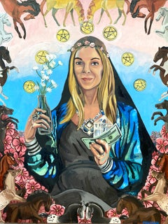 Princess of Pentacles, Oil Painting