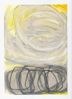 Atmospheric Study 11, oil and graphite on paper, 10 x 7 inches. Bold brushwork
