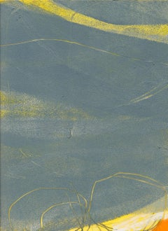 Atmospheric Study 2, oil and graphite on paper, 10 x 7 inches. Abstract painting