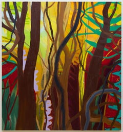 Nourishing Resilience (A Walk in the Woods), large abstract painting of forest