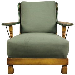 Racho Monterey Period Club Chair with Iron Details