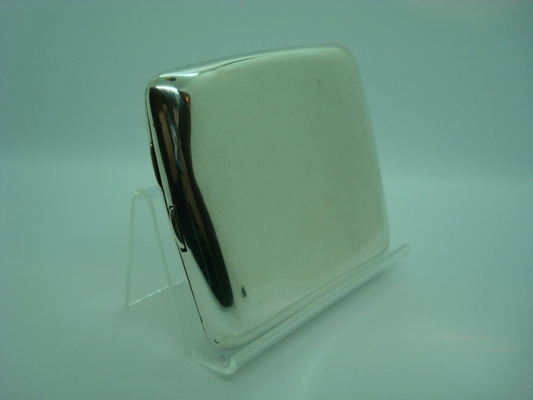 Racing Car Sterling Cigarette Case, Mercedes Benz, circa 1918 In Good Condition For Sale In Buenos Aires, Olivos